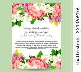 vintage delicate invitation... | Shutterstock .eps vector #331069496