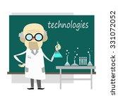 professor near the blackboard | Shutterstock .eps vector #331072052