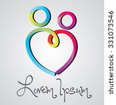couple logo vector design... | Shutterstock .eps vector #331073546