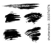 vector set of grunge brush... | Shutterstock .eps vector #331076576