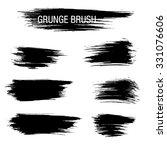 vector set of grunge brush...   Shutterstock .eps vector #331076606