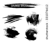 vector set of grunge brush... | Shutterstock .eps vector #331076612