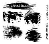 vector set of grunge brush... | Shutterstock .eps vector #331076618