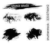 vector set of grunge brush... | Shutterstock .eps vector #331076642