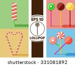 collection of cute flat... | Shutterstock .eps vector #331081892