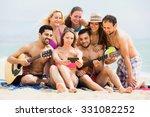 happy friends together doing... | Shutterstock . vector #331082252