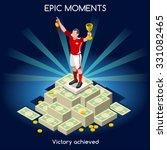 soccer player victory on money... | Shutterstock .eps vector #331082465