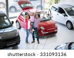 excited family buying a new car ... | Shutterstock . vector #331093136