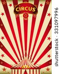 magic red paradise circus. a... | Shutterstock .eps vector #331097996