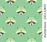 seamless raccoon pattern in... | Shutterstock .eps vector #331112855