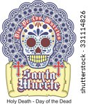 day of the dead  holy death... | Shutterstock .eps vector #331114826
