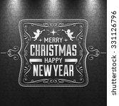 black and white christmas... | Shutterstock .eps vector #331126796