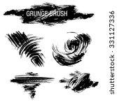 vector set of grunge brush... | Shutterstock .eps vector #331127336