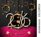 2016 happy new year background... | Shutterstock .eps vector #331128026
