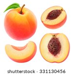 isolated peach. collection of... | Shutterstock . vector #331130456