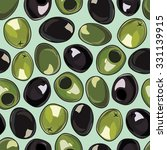 seamless background with olives | Shutterstock .eps vector #331139915