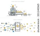 flat line design vector... | Shutterstock .eps vector #331140365