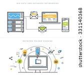 flat line design vector... | Shutterstock .eps vector #331140368