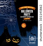 halloween party. poster | Shutterstock .eps vector #331141862