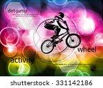 bmx cyclist  vector | Shutterstock .eps vector #331142186
