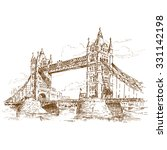 sketch of british tourism... | Shutterstock .eps vector #331142198