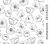 hand drawn black and white... | Shutterstock . vector #331142225