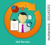 360 degree review feedback... | Shutterstock .eps vector #331142252