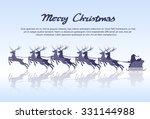 santa claus sleigh reindeer... | Shutterstock .eps vector #331144988