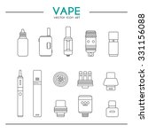 set of vaping icons in thin... | Shutterstock .eps vector #331156088