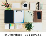 digital tablet  desk top | Shutterstock . vector #331159166