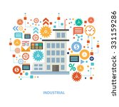 industry concept design on... | Shutterstock .eps vector #331159286