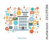 industry concept design on... | Shutterstock .eps vector #331159286