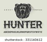 vintage decorative modern font... | Shutterstock .eps vector #331160612