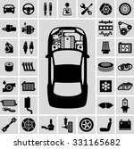 car engine parts vector icons | Shutterstock .eps vector #331165682