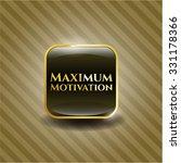 maximum motivation gold emblem | Shutterstock .eps vector #331178366