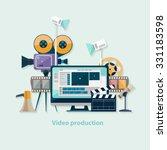 video production. flat design. | Shutterstock .eps vector #331183598