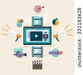 digital marketing. flat design.   Shutterstock .eps vector #331183628