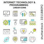 internet technology and... | Shutterstock .eps vector #331188092