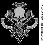 skull axe vector | Shutterstock .eps vector #331189742