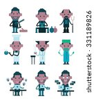 professions characters. flat... | Shutterstock .eps vector #331189826