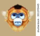 illustrated portrait of golden... | Shutterstock . vector #331195445