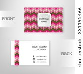 business card template with... | Shutterstock .eps vector #331195466