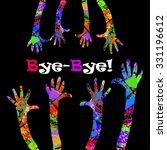 hands up  bye bye  vector | Shutterstock .eps vector #331196612
