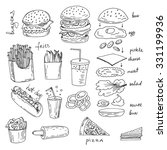 Hand Drawn Sketchy Fast Food...