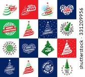 holiday abstract vector logos... | Shutterstock .eps vector #331209956
