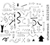 hand drawn arrows for your... | Shutterstock .eps vector #331215125