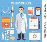 modern medicine  doctor and...   Shutterstock . vector #331216736
