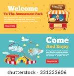 public park  amusement park... | Shutterstock .eps vector #331223606