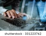 close up of business man hand... | Shutterstock . vector #331223762