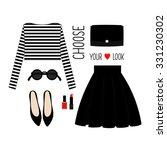fashion illustration. casual... | Shutterstock .eps vector #331230302